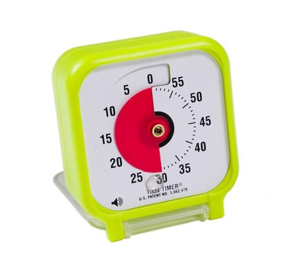 Time Timer Audio Pocket Version Limegrøn (7,5 x 7,5 cm)